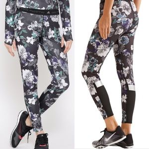Adidas Stella McCartney Floral Paneled Run Tights